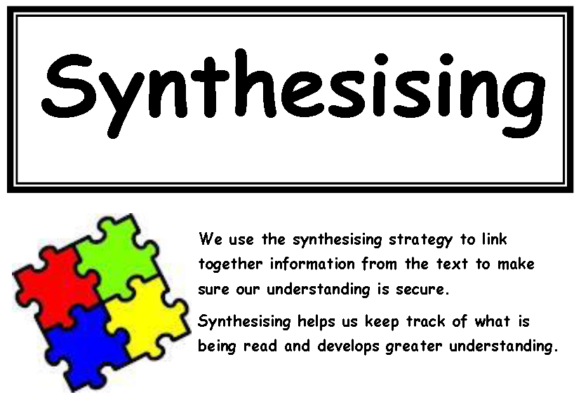 what is synthesising in reading Guiding comprehension  the teaching of reading needs to include a range of comprehension strategies  activities for synthesising.