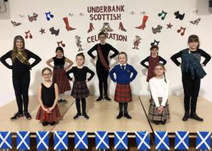 Underbank's Scottish Dancers on the Scottish Celebration morning